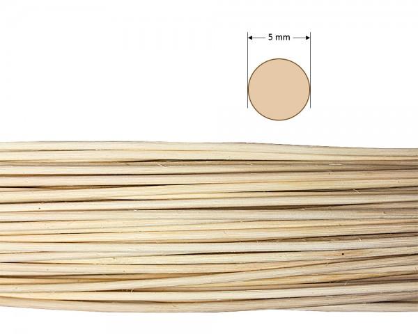 Peddigrohr rund natur 5 mm