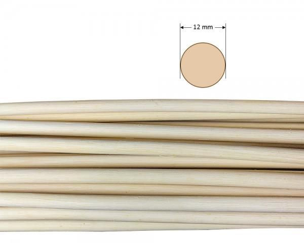 Peddigrohr rund natur 12 mm