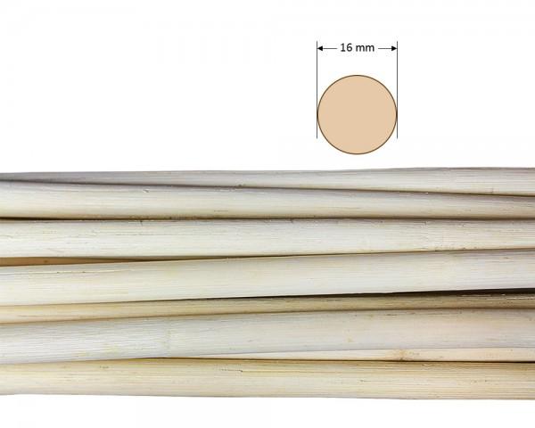 Peddigrohr rund natur 16 mm