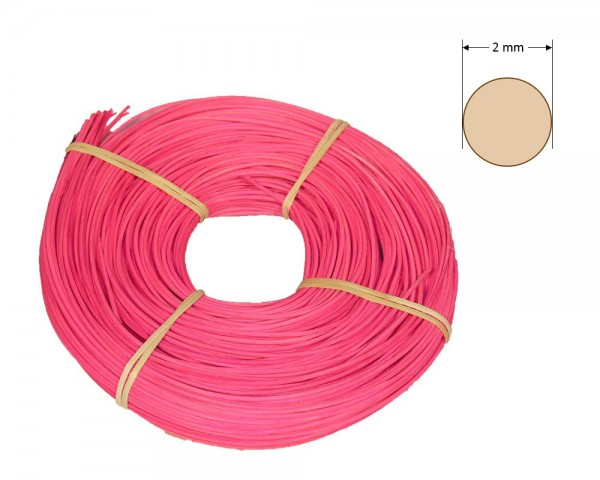 Peddigrohr rund gefärbt 2 mm - rosa