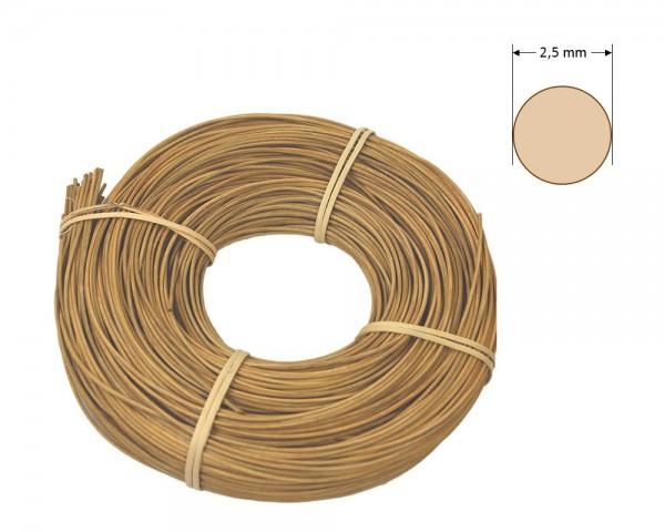 Peddigrohr rund gefärbt 2,5 mm - goldbraun