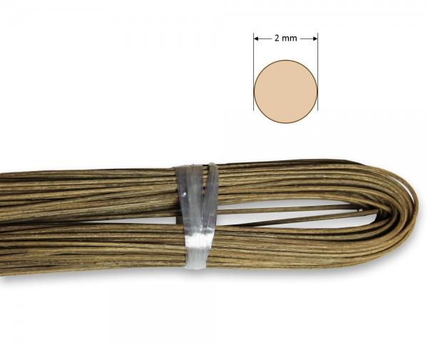 Peddigrohr rund geräuchert 2 mm
