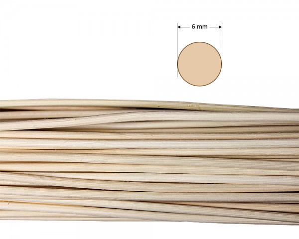 Peddigrohr rund natur 6 mm