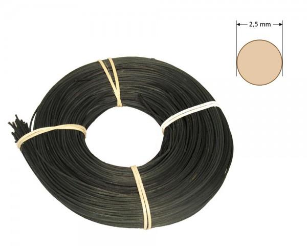 Peddigrohr rund gefärbt 2,5 mm - schwarz