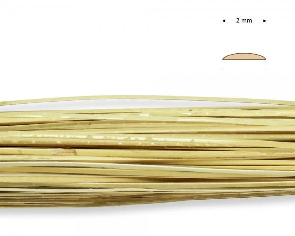 Stuhlflechtrohr Goldband 2 mm