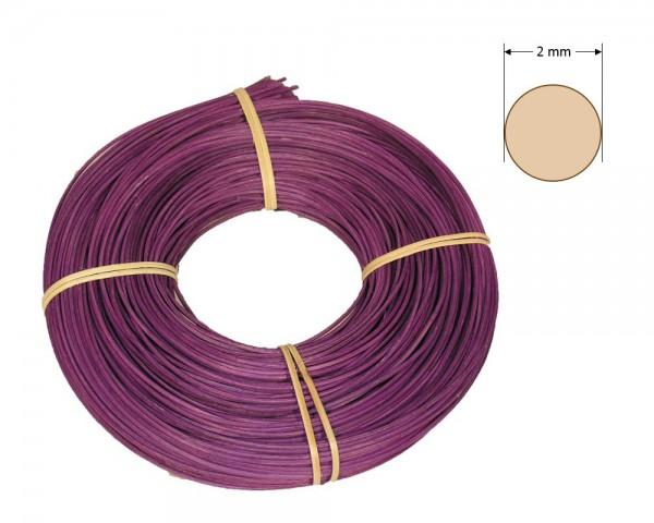Peddigrohr rund gefärbt 2 mm - lila