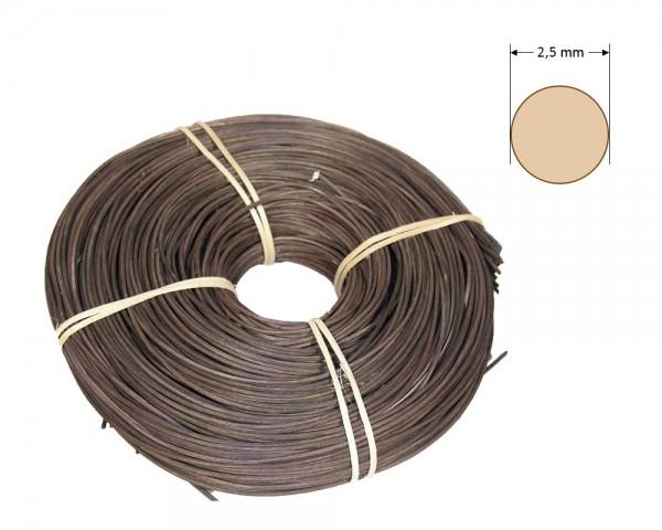 Peddigrohr rund gefärbt 2,5 mm - dunkelbraun