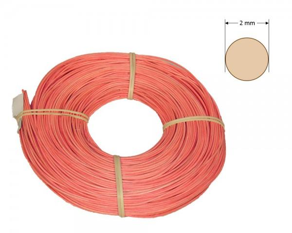 Peddigrohr rund gefärbt 2 mm - hellrosa