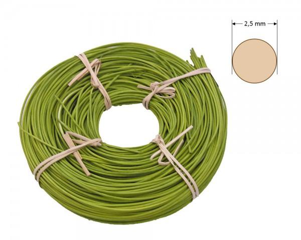 Peddigrohr rund gefärbt 2,5 mm - olivgrün