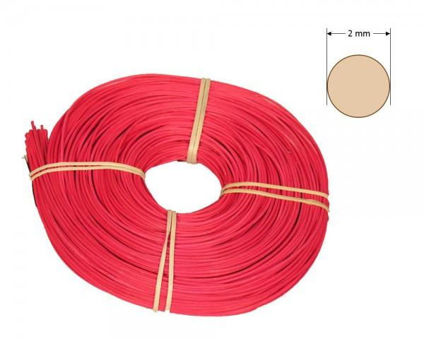 Peddigrohr rund gefärbt 2 mm - rot