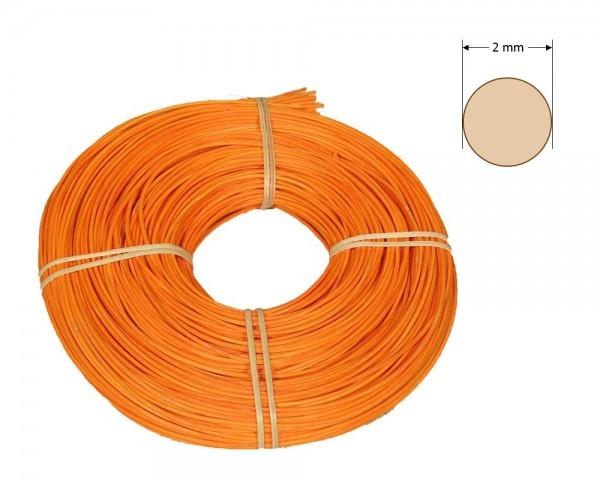 Peddigrohr rund gefärbt 2 mm - orange
