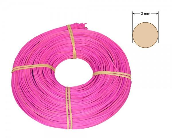 Peddigrohr rund gefärbt 2 mm - leuchtend-rosa