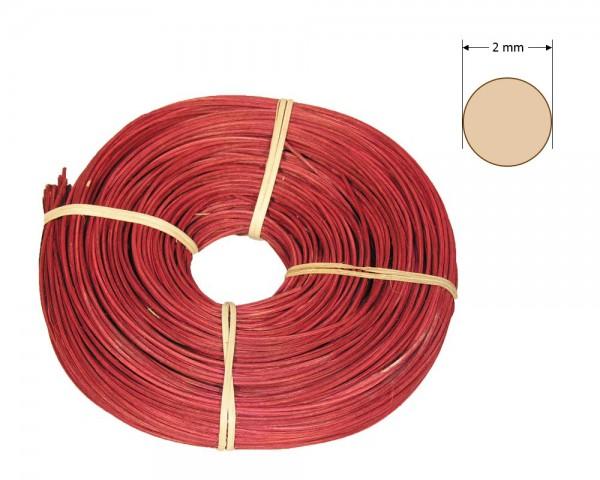 Peddigrohr rund gefärbt 2 mm - bordeaux