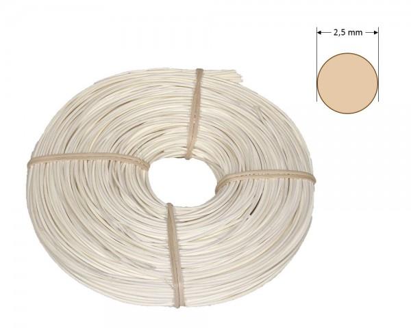 Peddigrohr rund gefärbt 2,5 mm - weiß