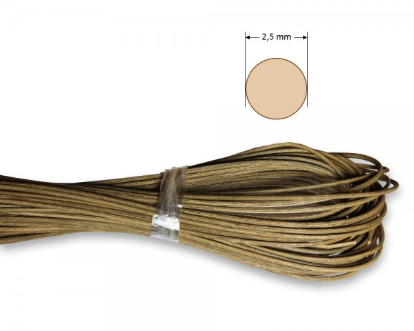 Peddigrohr rund geräuchert 2,5 mm