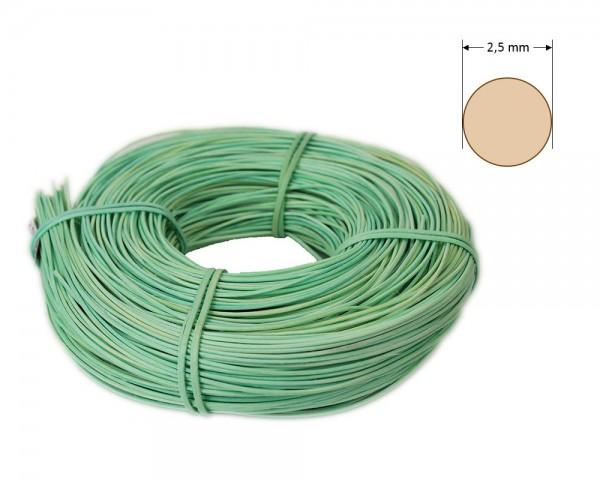 Peddigrohr rund gefärbt 2,5 mm - pistazie