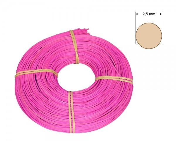 Peddigrohr rund gefärbt 2,5 mm - leuchtend-rosa