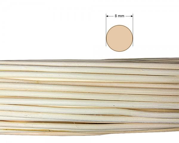 Peddigrohr rund natur 8 mm