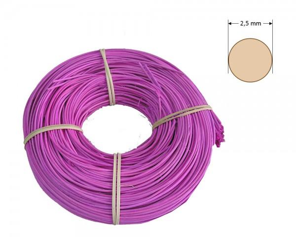 Peddigrohr rund gefärbt 2,5 mm - hell-lila
