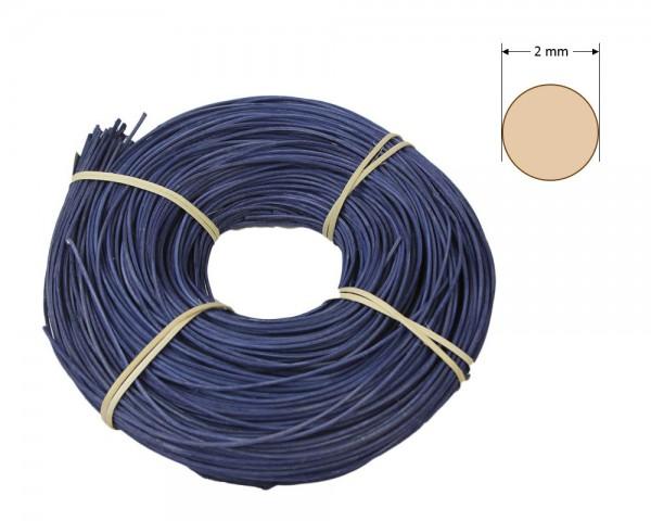 Peddigrohr rund gefärbt 2 mm - dunkelblau