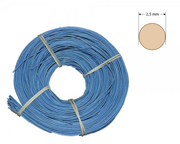 Peddigrohr rund gefärbt 2,5 mm - hellblau