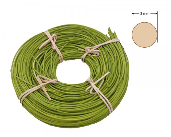 Peddigrohr rund gefärbt 2 mm - olivgrün