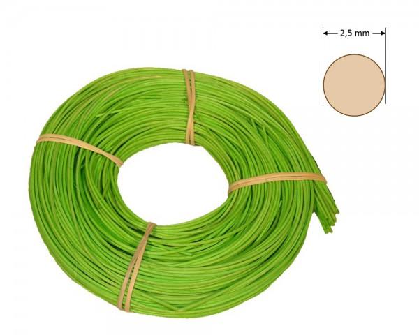 Peddigrohr rund gefärbt 2,5 mm - hellgrün