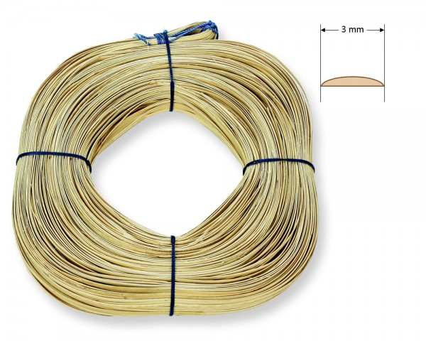 Stuhlflechtrohr Blauband 3 mm 1/4 kg