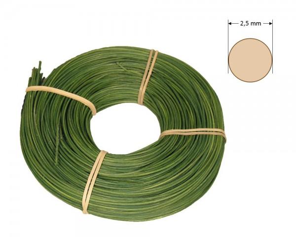 Peddigrohr rund gefärbt 2,5 mm - dunkelgrün