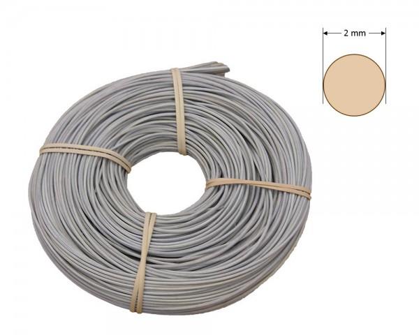 Peddigrohr rund gefärbt 2 mm - grau