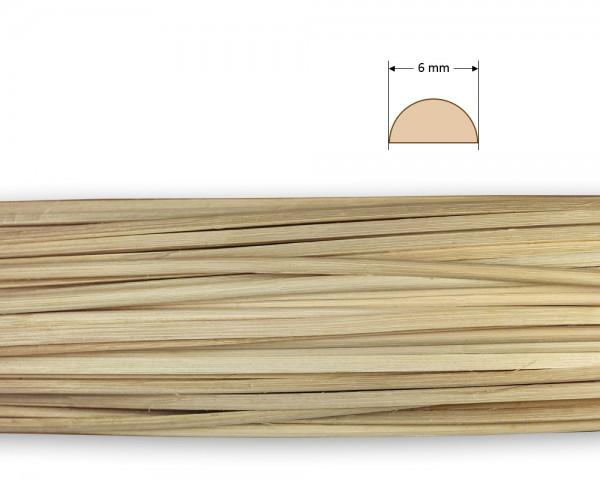 Peddigrohr gespalten natur 6 mm