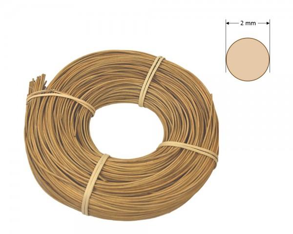 Peddigrohr rund gefärbt 2 mm - goldbraun