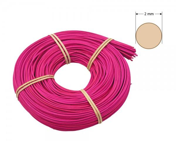 Peddigrohr rund gefärbt 2 mm - pink
