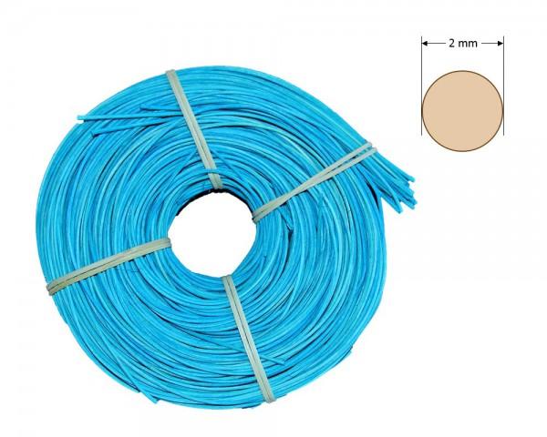Peddigrohr rund gefärbt 2 mm - türkis