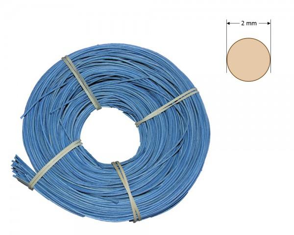 Peddigrohr rund gefärbt 2 mm - hellblau