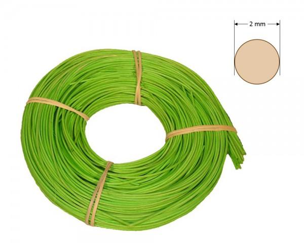 Peddigrohr rund gefärbt 2 mm - hellgrün